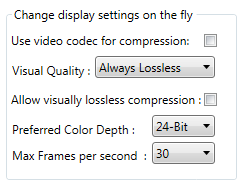 Change display settings on the fly